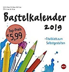 Bastelkalender weiß mittel - Kalender 2019