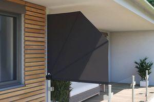 Balkonfächer Seitensichtschutz, verschiedene Größen & Farben, Farbe:anthrazit, Groesse:140 x 140 cm