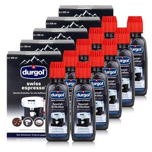Durgol Swiss Spezial Espresso Entkalker DED 10 Flaschen a 125ml