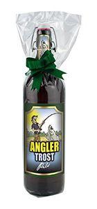 Angler Trost Pils Geschenk Bier 1 Liter Flasche mit Bügelverschluss