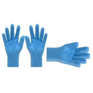 5 Pairs Küche Haushalt Nitril Handschuhe Pulver Freies Einkaufen Gartenarbeit Schutz Handschuhe Farbe Blau L.