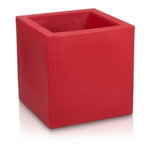 Pflanzkübel CUBO 60 Kunststoff Blumenkübel, 60x60x60 cm (L/B/H), Farbe: rot matt