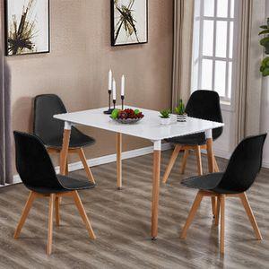 4er Set Design Esszimmerstuhl | Kunstleder Schwarz Polstersessel Loungesessel Stuhl  Küche Esszimmer