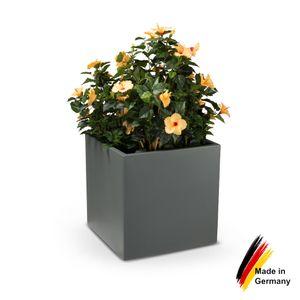 Pflanzkübel CUBO 60 Kunststoff Blumenkübel, 60x60x60 cm (L/B/H), Farbe: basaltgrau matt