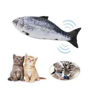 Elektrische USB-Ladesimulation Fisch Katzenspielzeug Lustige interaktive Haustiere Katzen Katzenminze Spielzeug fuer Katze Kaetzchen Kaetzchen-Perfekt zum Beissen Kauen Treten (Mit Katzenminze und Karausche) 【Wels】
