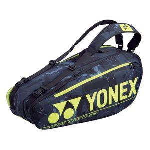 Yonex Pro Racket Bag 6R Tennistasche Schwarz Gelb