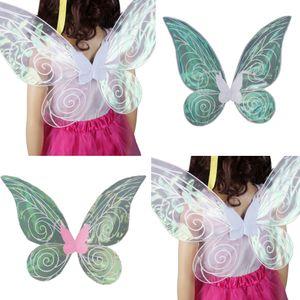 2x Glitzer Schmetterlingsflügel Feenflügel Engelsflügel Elfenflügel, Geschenk für Madchen