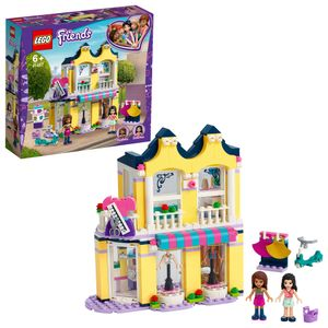 LEGO 41427 Friends Emmas Mode-Geschäft Set, Puppenhaus mit Mini Puppen Andrea & Emma und Accessoires, Spielzeug ab 6 Jahren