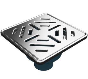 MERT Bodenablauf für ebenerdige Dusche Edelstahlrost Stribes senkrechter Ablauf 150 x 150 mm,,,DU-3003-50-A