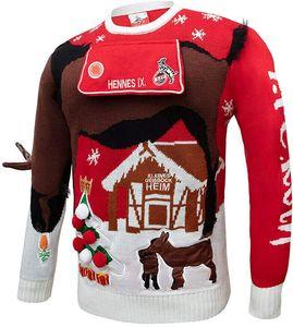 1. FC Köln Schäbbich Pullover Weihnachtspullover Ugly HENES, 2010694, Gr. XL