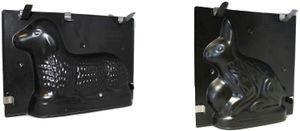 CYE Spezial Backset Ostern, Osterlamm + Osterhase Backform, Kuchenform 3D, Antihaft-Beschichtung