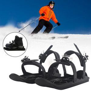 Skifahren im Freien Mini Sled Snowboard Skischuhe Skischuhe Kombinieren Sie Skates mit Skiern Schnee Ski liefert Schlitten (verpackt)
