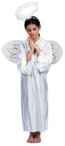 Witbaard kostüm Engel Mädchen PE weiß Größe 4-6 Jahre 3-teilig