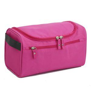 Kulturbeutel zum aufhängen in Rosa, Kosmetiktasche, Kulturtasche, Waschtasche groß in 5 Farben