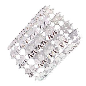 10 Stück Serviettenringe Perlen Serviettenhalter Set für Hochzeitsfest Abendessen Silber wie beschrieben