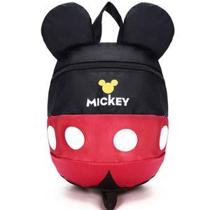 Kindergarten Micky Maus Rucksack Jungen Mädchen Schultasche mit Sicherheitsgurt Farbe : Schwarz