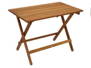 DEGAMO Gartentisch Klapptisch Beistelltisch Campingtisch Holztisch DANA 52x90cm, Akazie geölt