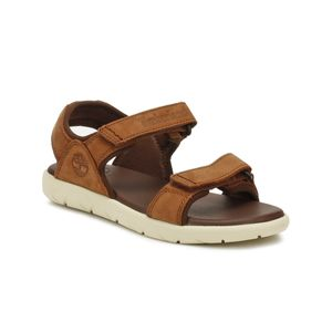 Timberland Youth Cappuccino Brown Nubble 2-Strap Sandalen