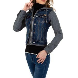 Ital-Design Damen Jacken Jeansjacken Blau Gr.l