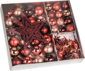 Weihnachtskugeln SHATTERproof 45 PCS - Farbe: Rot