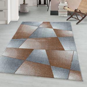 Teppium Kurzflor modern Teppich, Wohnzimmerteppich, Abstrakt, Rechteckig KUPFER, Farbe:KUPFER,120 cm x 170 cm