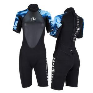 AquaLung Hydroflex Damen Shorty schwarz-blau, Größe:ML
