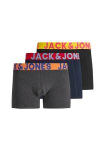 JACK & JONES JACCRAZY TRUNKS 3 PACK Herren Boxershorts, 3er Pack, Größe:L, Farbe:Schwarz (Black Detail Navy Blazer & Black)