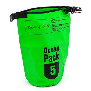 Ocean Pack 5L, wasserdichte Badetasche, Badesack, Packsack, Segeln, SkiFarbe: hellgrün