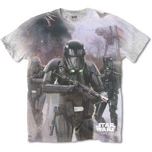 Star Wars Herren-T-Shirt Rogue One 'Death Trooper' Grau : Kultiges T-Shirt von Marvel Comics mit Deadpool-MotivMater