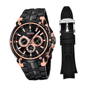 Festina Edelstahl Herren Uhr F20329/1 Armbanduhr schwarz Chrono Bike D2UF20329/1