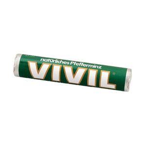 Vivil Pastillen Pfefferminz Bonbonrolle mit Zucker 29g 25er Pack