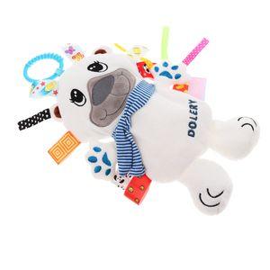 Baby scherzt Pram Handbell-Spaziergänger-hängende Plüsch-Spielwaren Farbe Weißer Bär