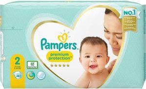 Pampers Premium Protection Größe 2, 4kg-8kg, 40 Stück