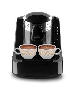 Arzum Okka Türkische Mokka Kaffeemaschine OK 002-B Schwarz Chrom