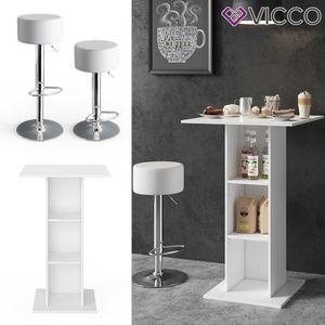 Vicco Bartisch RODEO Stehtisch Loungetisch Tresentisch Tisch Küchentisch Regal inkl. 2 Barhocker