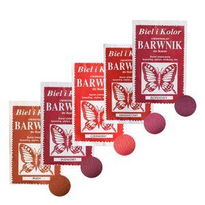 5 x 10g Batikfarbe Textilfarbe Stofffarbe färben, bitte Farbmix wählen, Farbe:Rottöne