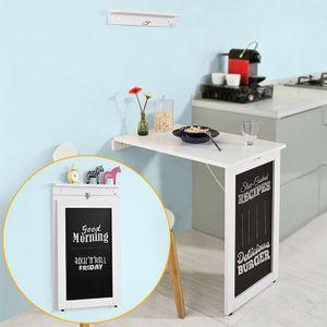 SoBuy® Wandtisch in weiß mit Tafel, Klapptisch, Bartisch, FWT20-W