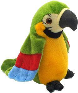 Sprechender Plüschvogel Papagei Vogel mit Aufnahme und Wiedergabefunktion, Plüschtiere Kuscheltiere Spielzeug Jungen und Mädchen g