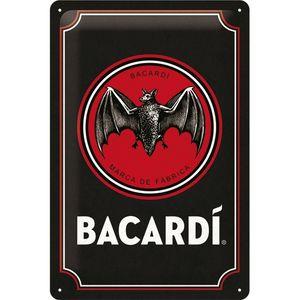 Nostalgic-Art - Blechschild Metallschild 20x30cm - Bacardi Logo Black