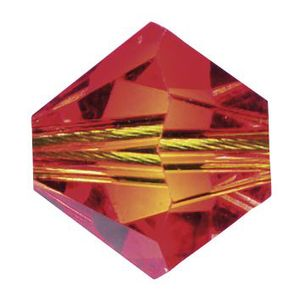 Swarovski-Perlen, Ø 4mm, 25 Stück Fireopal