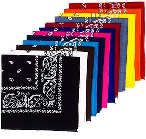 12 Stück Bandana Kopftuch Halstuch Nickituch Biker Tuch Motorad Tuch verschied. Farben Paisley Muster, Farbe wie abgebildet