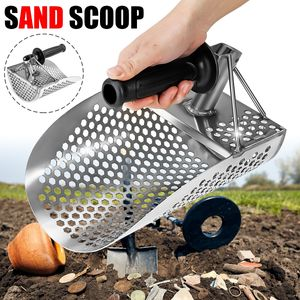Audew Metalldetektor Sand Scoop Sandschaufel Strand Wasser Gold Jagdwerkzeug Edelstahl
