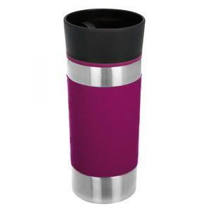 bremermann Thermobecher 360 ml, 100% auslaufsicher, Isolierbecher Kaffeebecher Reisebecher, berry