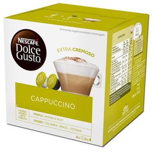 Nescafe Dolce Gusto Cappuccino Aroma versiegelte Kapseln 186g