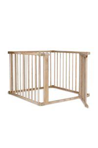 dibea Baby-Laufstall, Holz-Laufgitter mit 68 cm Höhe und Tür, 4 Elemente je 90 x 68 cm