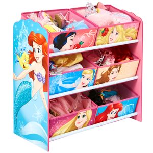 Worlds Appart Disney Prinzessin - Regal zur Spielzeugaufbewahrung mit sechs Kisten für Kinder, 471DIY