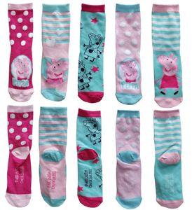 Peppa Wutz Kindersocken (5er Pack, Größe: 31/34) Socken Kinder Pig Schweinchen