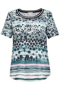 Gina Laura T-Shirt Musterverlauf Streifenbündchen mehrfarbig NEU, Größe:S
