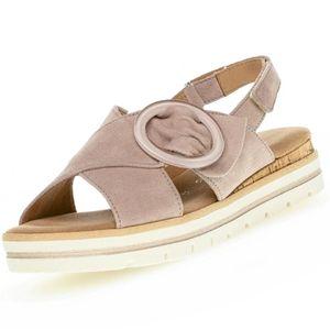 GABOR Comfort Damen Plateau-Sandalen Rosa, Schuhgröße:EUR 37.5