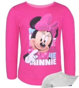 Disney Minnie Maus langarm T-Shirt Kinder Mädchen - Pink Größe: 122/128